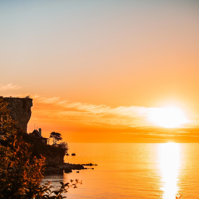 Solnedgången i Högklint, Visby