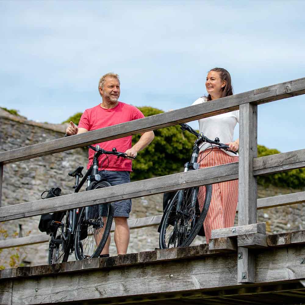 Cykla i Visby med familjen